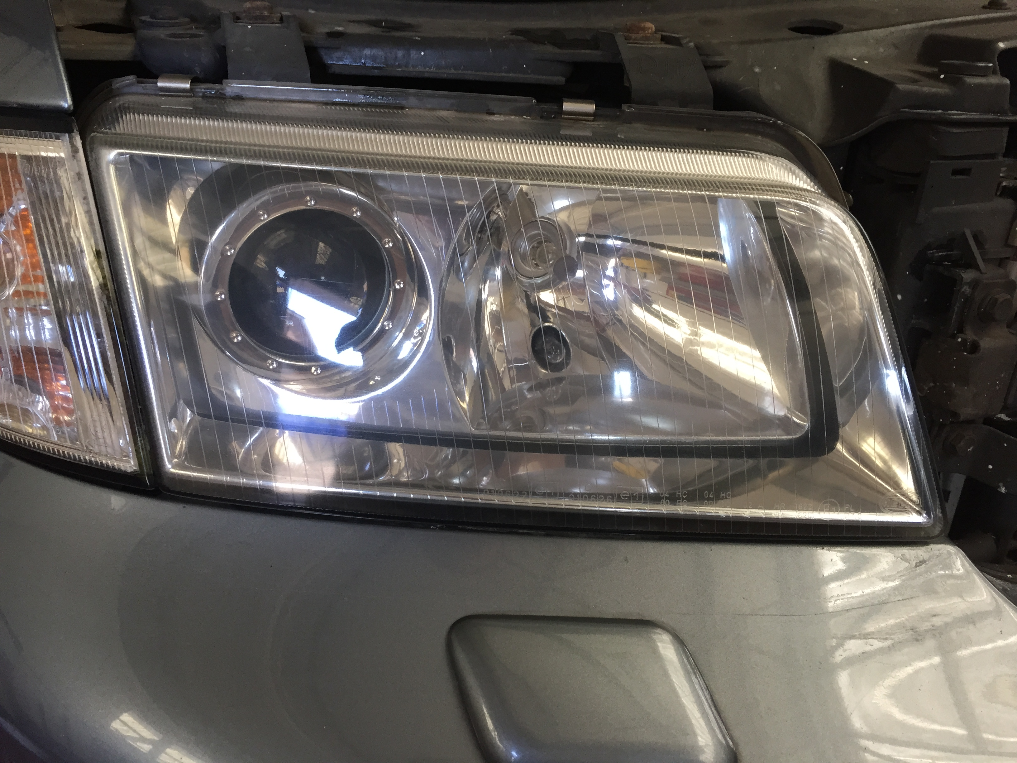 End reults and a lovely clear headlight that will pass its MOT without a problem