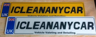 icleananycar show plates